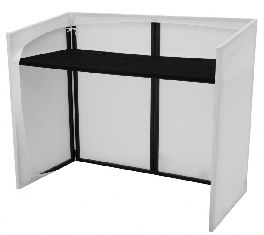 omnitronic mobile dj stand tisch inklusive stretch cover. Black Bedroom Furniture Sets. Home Design Ideas