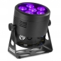"Preview: BeamZ ""BBP66"" Akku LED Scheinwerfer, Uplight mit 6x 6 Watt RGBW LED's"