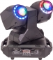 "Preview: IBIZA Light ""MHBEAM60-FX"" Doppel Moving Head Beam mit 2x 30 Watt RGBW LED & FX Ringen"