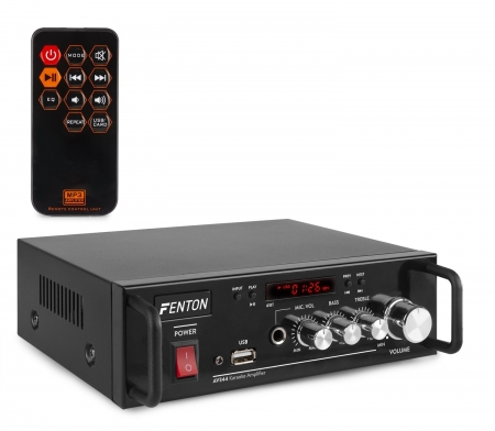 "FENTON ""AV344"" Karaoke Digitalverstärker mit Akku, Bluetooth & USB MP3 Player, 2x 50 Watt"