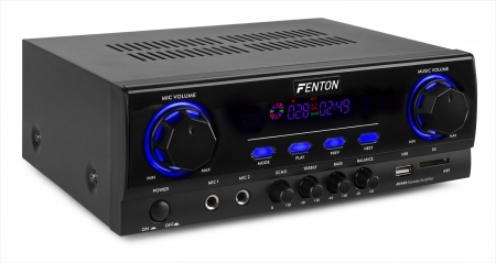 "FENTON ""AV440"" Karaoke Digitalverstärker mit Multimedia Bluetooth,  USB & SD Card MP3 Player, 2x 200 Watt"