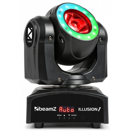 "BeamZ ""Illusion 1"" Moving Head 60W RGBW LED Beam mit LED Ring"