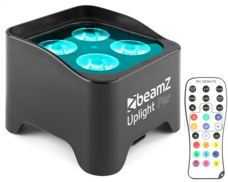 "BeamZ ""BBP90"" Uplight Akku LED Par mit 4x 4 Watt RGB-UV"