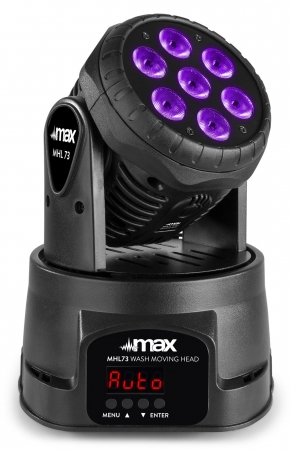 "MAX ""MHL73"" LED Moving Head Wash mit 7x 8 Watt RGBW LED's"