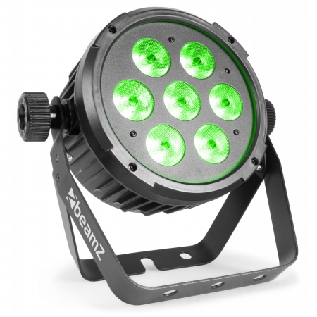 "BeamZ ""BT270"" LED FlatPAR Scheinwerfer mit 7x 6 Watt RGBW LED's"