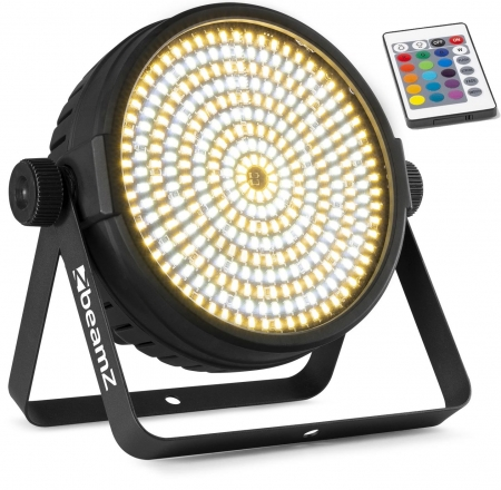 "BeamZ ""BT430"" LED High Power Slim Flat Stroboskop mit 324 WW/CW LED's & IR-Fernbedienung"