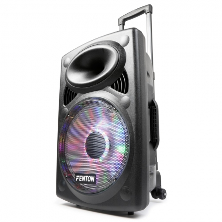"FENTON ""FPS12"" Mobile PA-Anlage mit LED/USB/SD/MP3/VHF/BT"