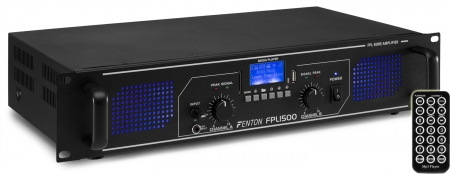 "FENTON ""FPL1500"" Digitalverstärker mit Bluetooth, USB & SD MP3 Player, 1500 Watt"