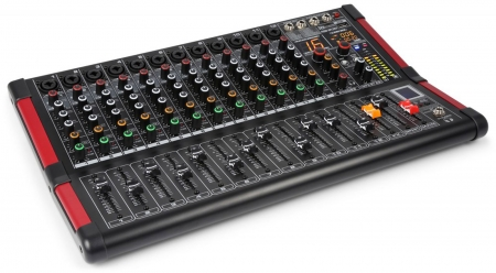 "Power Dynamics ""PDM-M1204"" 12-Kanal Stage Mischpult mit 24-Bit DSP, Bluetooth und USB Player"