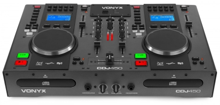 "VONYX ""CDJ450"" Doppel MP3-/CD-/Bluetooth-Workstation/Mixer"