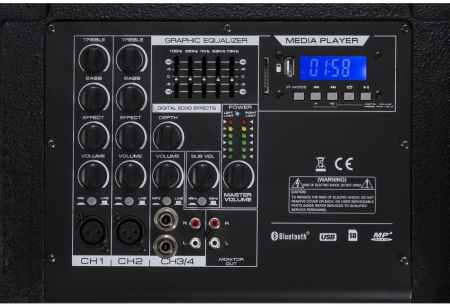 "Power Dynamics ""PD1212"" Aktives Array System 2x 12"" 800W Bluetooth"