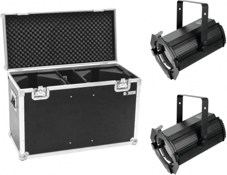 "SET: 2x EUROLITE ""LED THA-100F MK2"" Theater-Spot inkl. Flightcase"