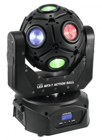 "EUROLITE MFX-7 ""Action Ball"" Beam-Moving-Ball mit 15-W-QCLs"