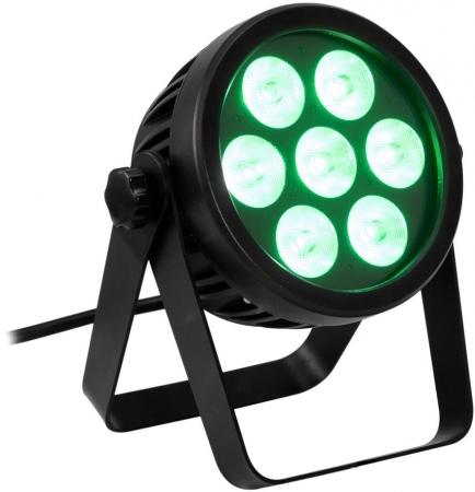 "EUROLITE ""LED 7C-7"" Silent Slim Spot mit 7x 9 Watt 7-in-1 LED's"