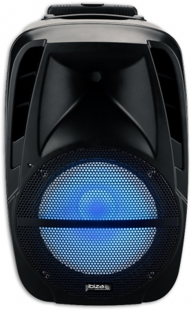 "IBIZA Sound Aktivbox ""BTM15A-LED"" mit USB/SD SPIELER & BLUETOOTH 15""/38cm - 500W"