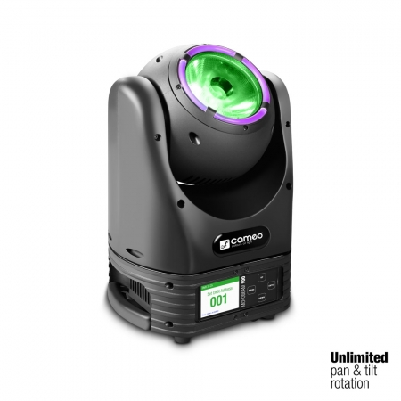 "Cameo ""MOVO® BEAM 100"" Beam Moving Head mit LED-Ring und Endlos-Drehung"