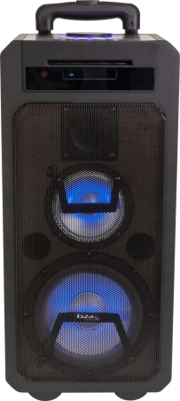 "IBIZA Sound ""FREESOUND350-CD"" Tragbare Akku Multifunktions Sound Box mit BT/USB/CD/IRC/LED"