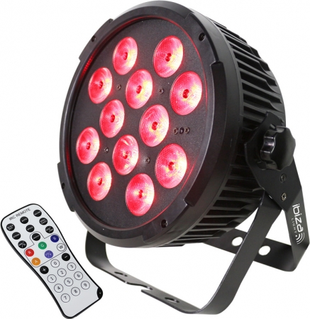 "IBIZA Light ""PARLED1212IR"" LED Scheinwerfer mit 12x 12 Watt RGBWA+UV LED's"
