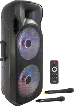 "PARTY Mobile PA-Anlage ""Party-215LED"" mit LED/USB/SD/MP3/UHF/BT/FM"