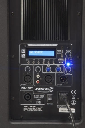 "PA-Set: BST ""PH15-BT"" Aktivbox mit Bluetooth, UKW , USB/SD MP3 Player + ""PH15-PASS"" Passivbox"