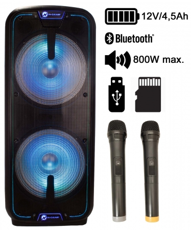 "N-Gear ""The Flash 3010"" Mobiles Akku Sound & Light Bluetooth, UKW & USB/SD MP3 System"