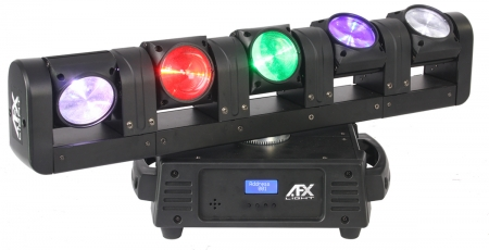 "AFX Light ""BLADE5-FX"" 5-köpfiger Moving Head Beam mit 5x 4-in-1 RGBW 12W CREE LEDs"