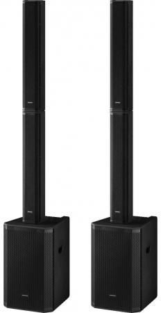"MONACOR ""VERT-12"" Stereo Set - Aktives 12"" Säulen PA System mit DSP & Bluetooth"