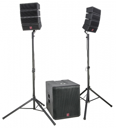 "BST ""HELIOS 2.1"" Aktives Line Array System mit 8 Satelliten und 18"" Subwoofer"
