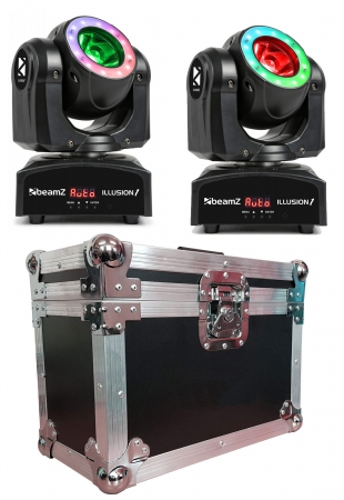 "BUNDLE: 2x BeamZ ""Illusion 1"" Moving Head Beam mit Case"