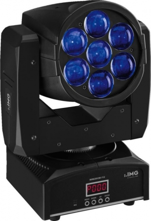 "IMG Stage Line ""MINIZOOM-712"" Beam/Wash Moving Head mit motorgesteuerter Zoom-Funktion"