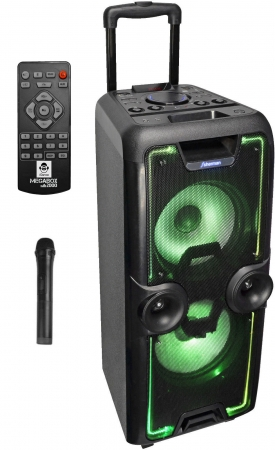 "iDance Audio ""MEGABOX 2000"" Tragbares Sound & Light Bluetooth & USB/MicroSD Party System"