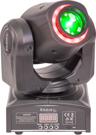 "IBIZA Light ""MHSPOT30-FX"" 2-in-1 Moving Head mit 30 Watt LED und SMD RGB Ring"