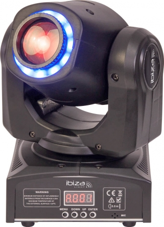 "BUNDLE: 2x IBIZA Light ""MHSPOT30-FX"" 2-in-1 Moving Head mit 30 Watt LED inkl. Case"