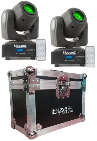 "BUNDLE: 2x BeamZ ""Panther 40"" 45 Watt LED Moving Head Spot mit Case"