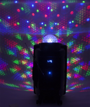 "PARTY Mobile PA-Anlage ""PARTY-15ASTRO"" mit LED/USB/SD/MP3/VHF/BT"