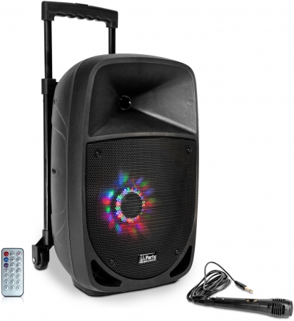 "PARTY Mobiles Soundsystem ""PARTY-8LED"" mit Mikro, USB, Bluetooth & Radio"