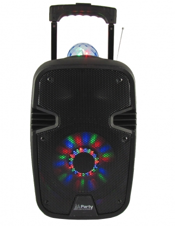 "PARTY Mobiles Soundsystem ""Party-7ASTRO"" mit LED, Mikro, USB, Bluetooth & Radio"