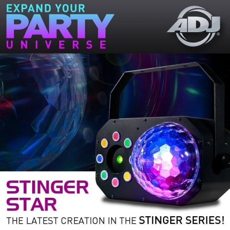 "AMERICAN DJ ""Stinger Star"" Moonflower, Wash-Effekt und Laser"