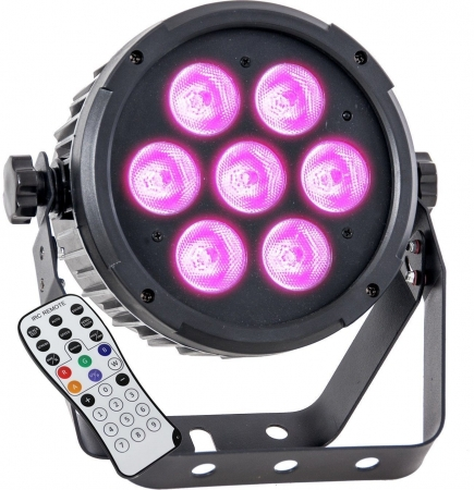 "IBIZA Light ""PARLED712IR"" LED Scheinwerfer mit 7x 12 Watt RGBWA+UV LED's"