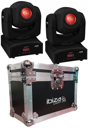 "BUNDLE: 2x IMG Stage Line ""TWIST-30LED"" Moving Head mit 30 Watt LED mit Case"