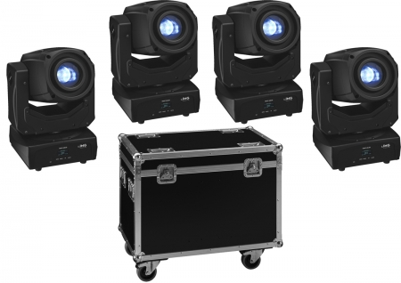 "SPAR SET: 4x IMG Stage Line ""TWIST-60LED"" + Roll Case"