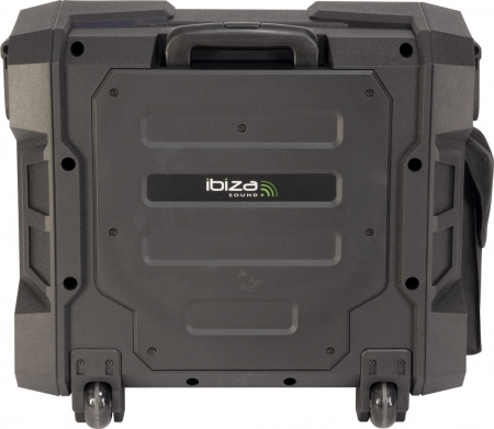 "IBIZA Sound ""WPORT10-300"" Mobiler Outdoor Akku Beschallungstrolley mit USB, FM-Radio, Funkmikro und Bluetooth, 300W"