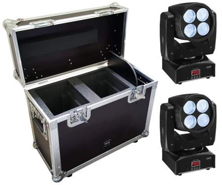 "SPARSET : 2x IMG Stage Line ""XBEAM410LED"" + Flightcase"