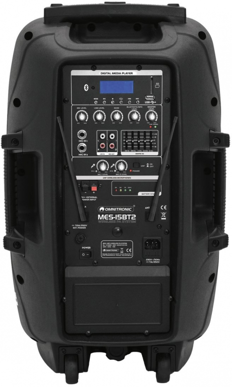 "OMNITRONIC ""MES-15BT"" Mobile PA-Anlage mit USB/SD/MP3/UHF/BT"