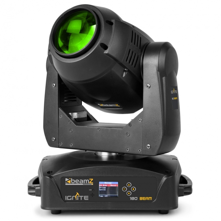 "BeamZPro ""IGNITE180B"" Moving Head Beam mit 180 Watt LED, 2 Goboräder und 2 Prismen"