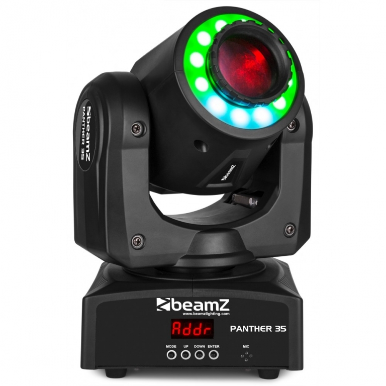 "BUNDLE: 2x BeamZ ""Panther 35"" 35 Watt LED Moving Head Spot mit LED Ring inkl. Case"