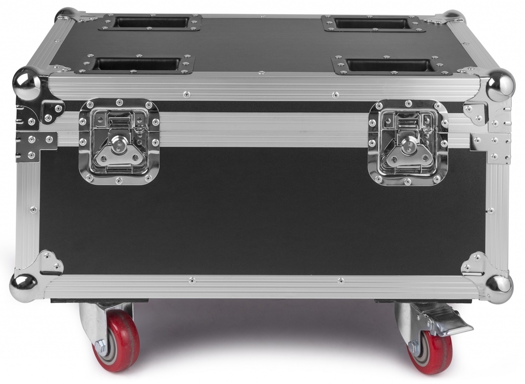"BUNDLE: 8x BeamZ ""BBP96"" W-DMX Uplight Akku LED Par mit 6x 10 Watt RGBWA-UV + ""FCC9"" Flightcase mit Ladefunktion"