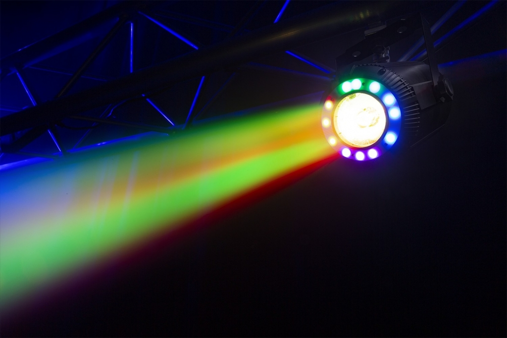"BeamZ ""PS40"" LED Beam aus Aluminium mit 40 Watt RGBW LED, 5° Abstrahlwinkel & RGB SMD Ring"