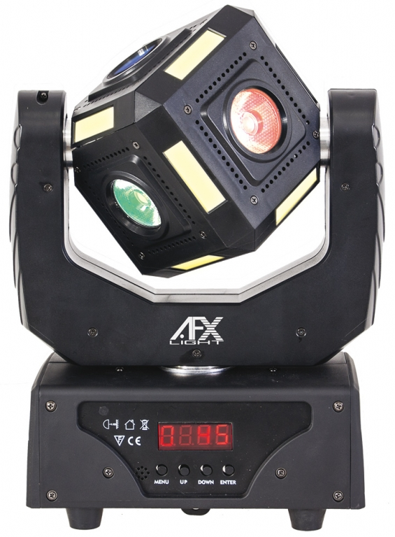 "AFX Light ""6CUBE-FX"" DMX-Cube Moving Head 6x 4-in-1 RGBW 10W CREE LEDs mit Moodlight-Strips"