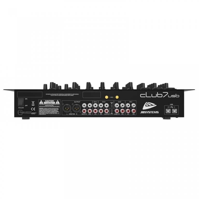 "JB SYSTEMS ""CLUB7-USB"" 3x MIC-IN, 2x USB, 5x LINE, USB/SD Player"